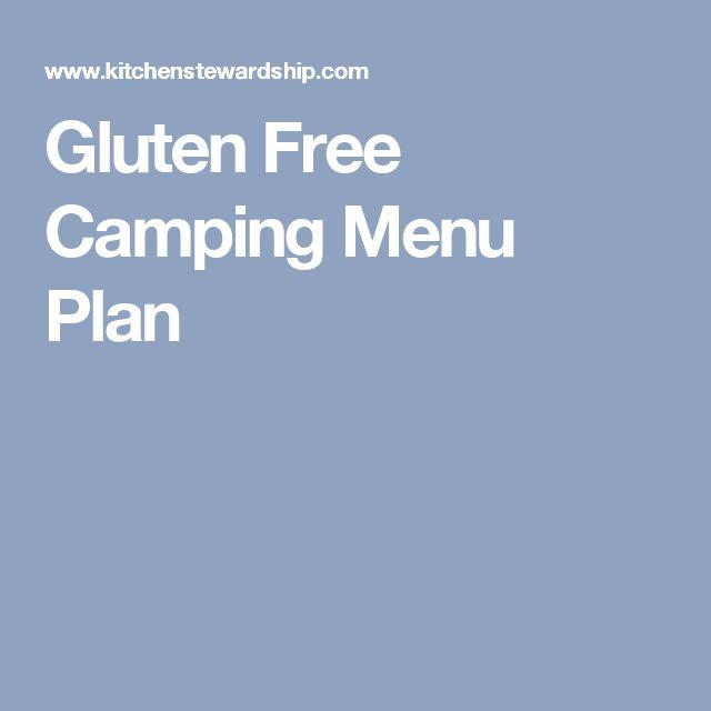 Gluten Free Camping Menu Plan