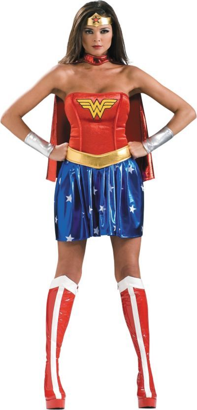 Shop for Adult Wonder Woman Costume Deluxe and other Women s Halloween  Costumes online at PartyCity.com. Save with Party City coupons and specials. dcd0778a3c
