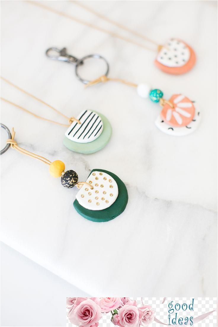 How To Make Your Own Essential Oil Diffuser Necklace Or Keychain Using Air Dry Clay Neckla Clay Jewelry Diy Essential Oil Necklace Diffuser Diy Clay Earrings