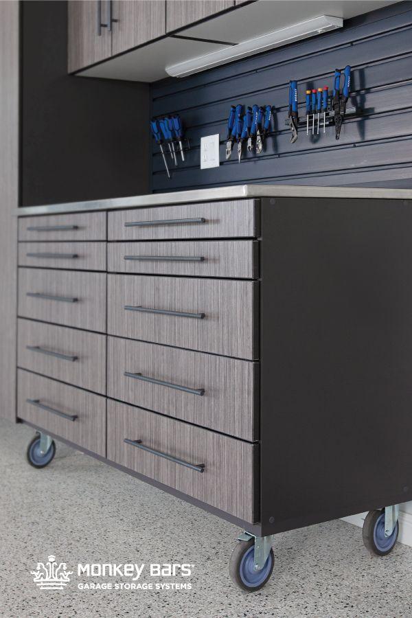 Rolling Cabinet Garage Cabinets Custom Garage Cabinets Cabinet