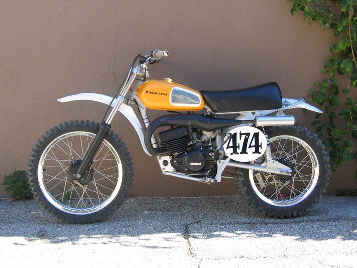 1973 Cr125 Husqvarna Won an AHRMA National Championship on this bike