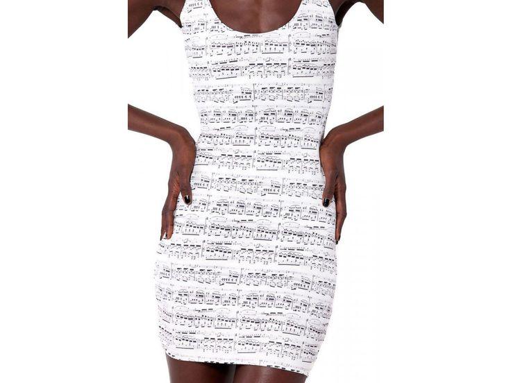 Šaty s notami Chopin - HUDEBNIKUM.CZ