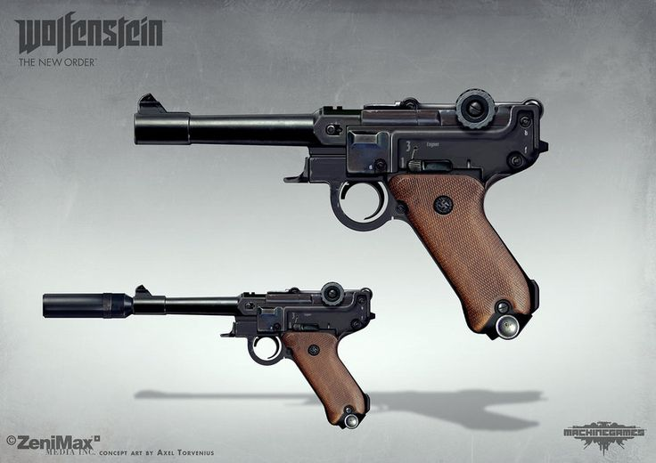 Wolfenstein: The New Order - Handgun 46 by torvenius on DeviantArt