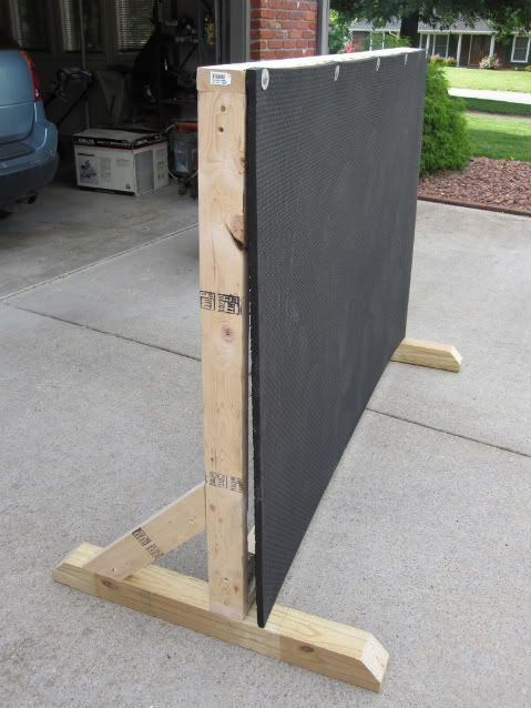 step by step photos and supply list for archery backstop: