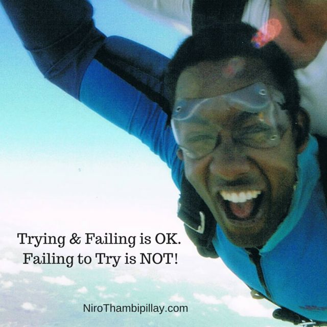 Never be afraid to have a go in life! If you think you can't, try and prove yourself wrong! When challenges come your way, sometimes the only thing you can do is have a go and try something new. After all, the old way didn't work or you wouldn't be facing the current challenge. Einstein said, the definition of insanity is to try the same thing over and over again, expecting a different result. Give up the old. Try something new and you never know, you might actually surprise yourself.