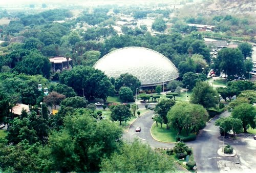 Geodesic Dome, Oaxtepec, Morelos, Mexico (there's sulfur springs in there, it smells like rotten eggs)