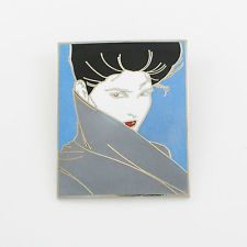 Vintage Patrick Nagel Brooch #01 by ACME Studio Rare NEW