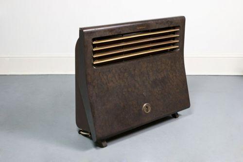 A 1940's Thermovent Bakelite heater