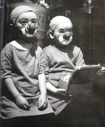 """Vintage Photo~Two Clowns Being Made Up. Are they Children or are They """"Little People""""...Dwarfs as they called them then."""