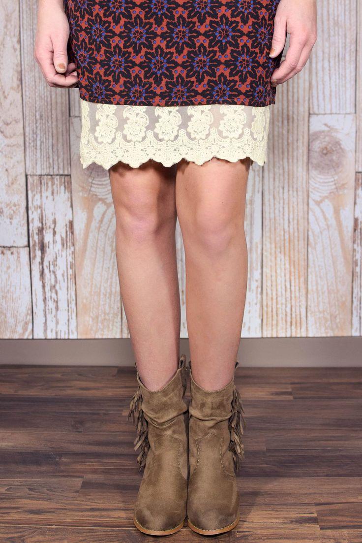Plus Size Cream Lace Dress Extender