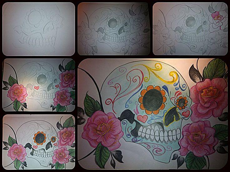 Calavera  teschio messicano