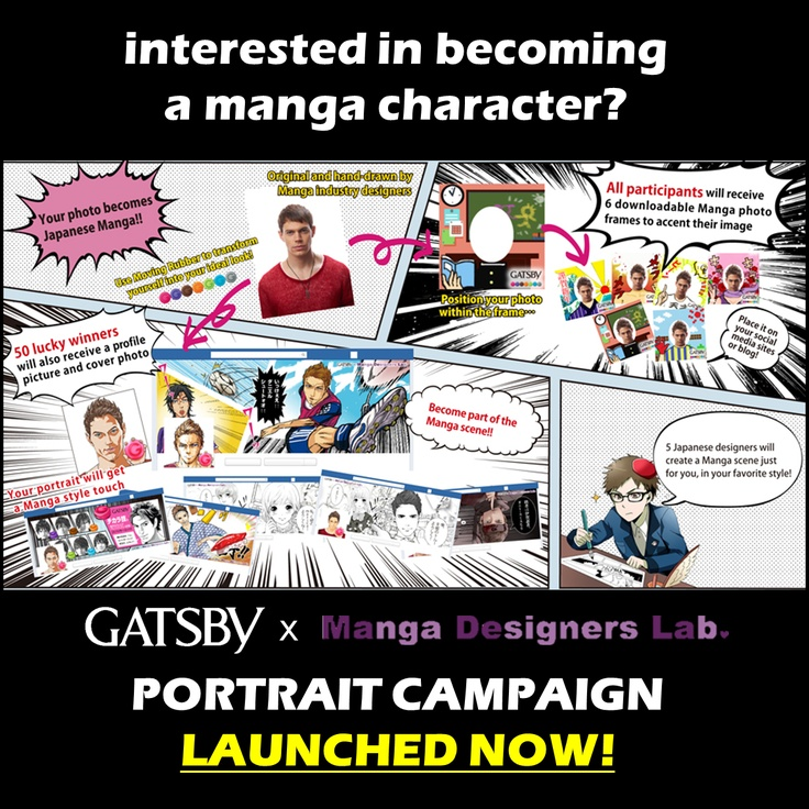 turn yourself into a manga character!