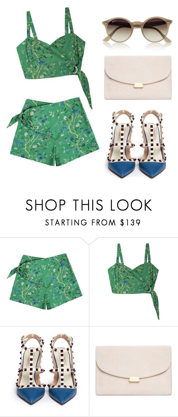 """""""green"""" by helga-fly on Polyvore featuring Samantha Pleet, Valentino, Mansur Gavriel and Ray-Ban"""