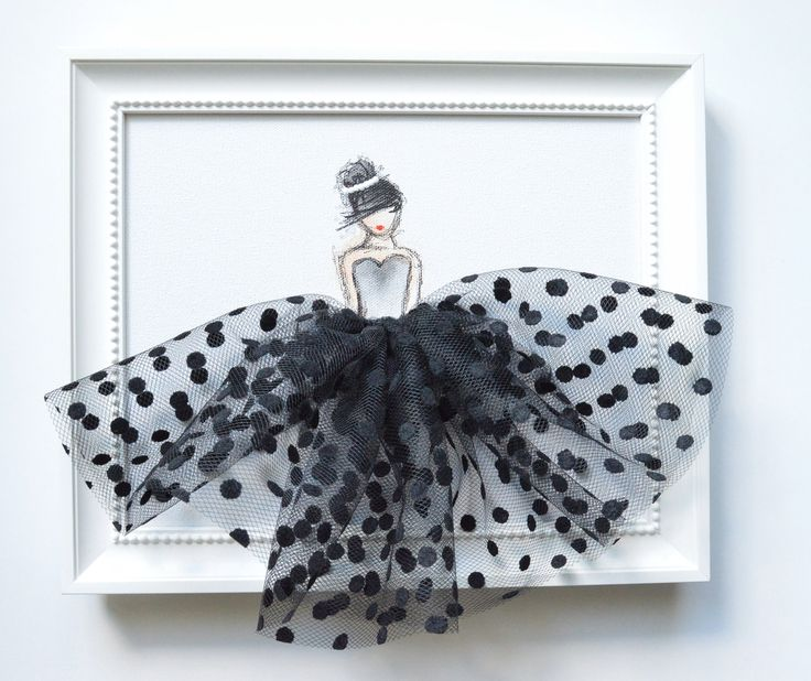 LADY IN BLACK hand painted canvas nursery by ShenasiConcept