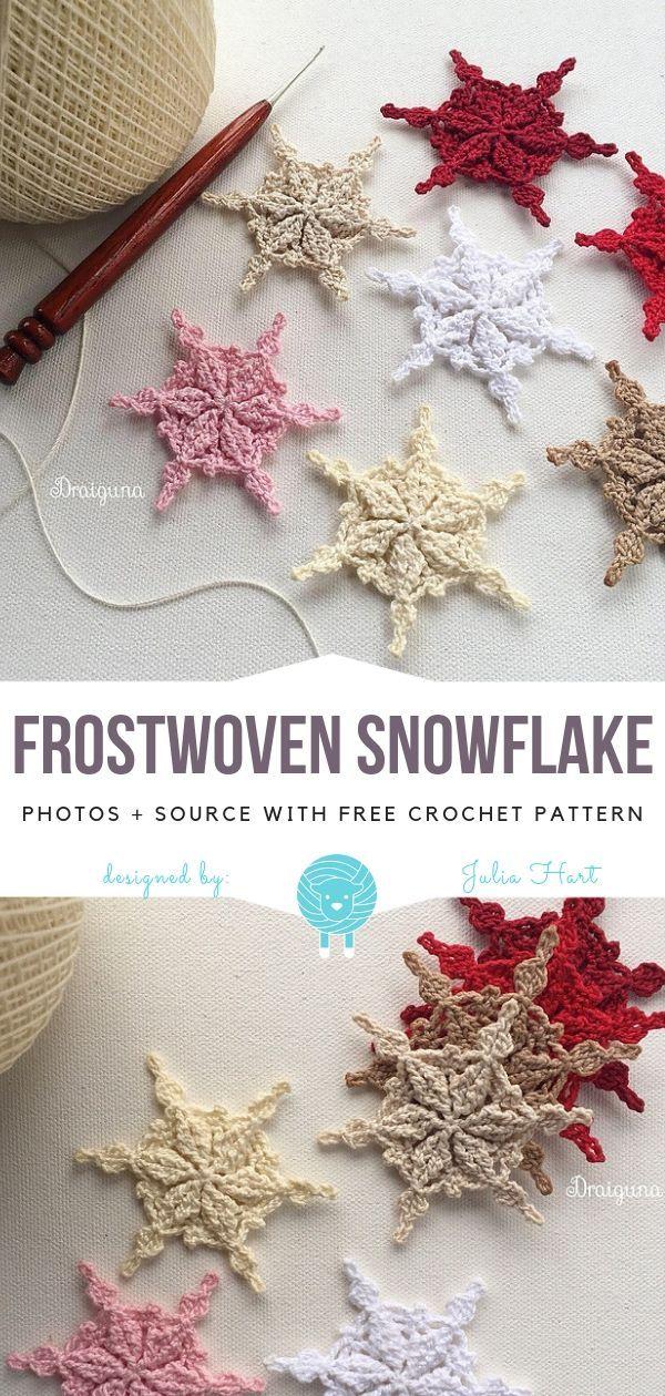 Frostwoven Snowflake Free Crochet Pattern | Winter | Pinterest ...