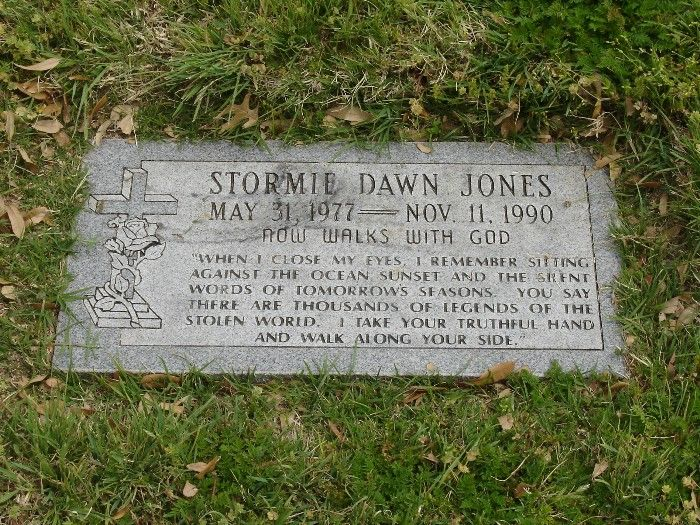 Stormie Dawn Jones - Pioneer Heart and Lung Transplant Recipient. She was, at the age of six, the first successful heart and liver transplant patient. The surgery was performed at Pittsburg Children's Hospital by Dr's. Starzl and Bahnson on Feb. 14, 1984 after being sent from the University of Texas Southwest Medical Center in Dallas.