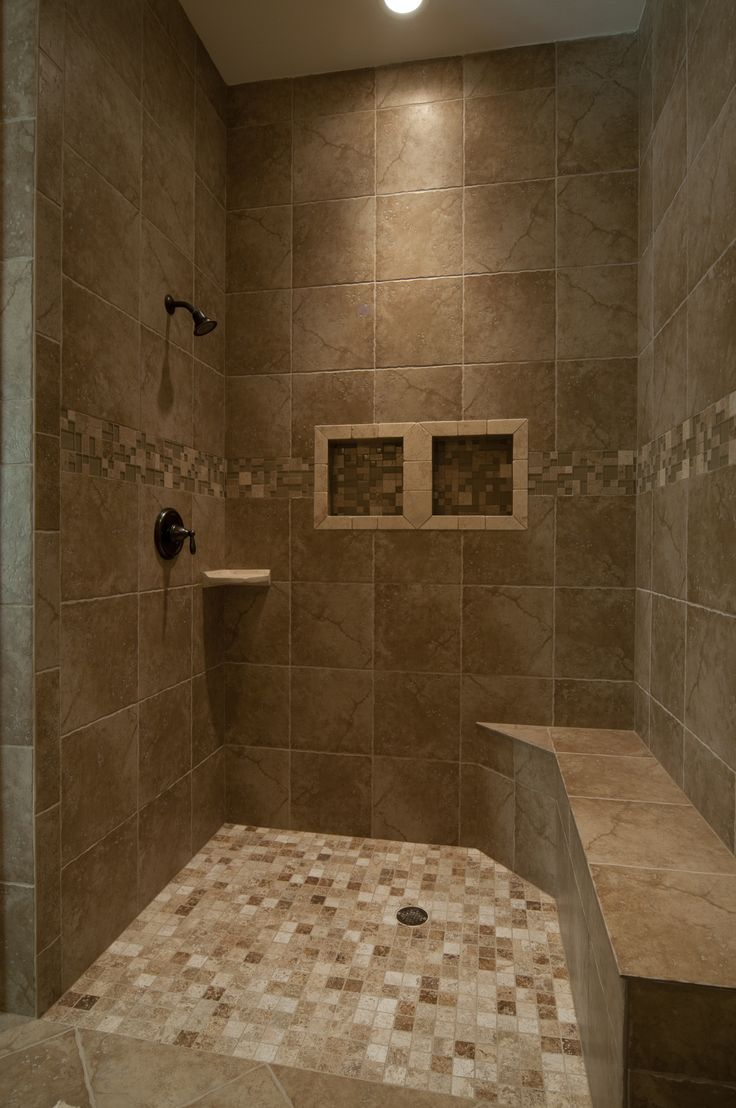 Inlaw Quarters Shower; Flush Floor And Bench For Handicap. Custom Built  Regency Home