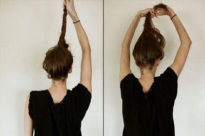 A CUP OF JO: Messy French bun. By now, everyone should now how to do this, but it never hurts to post.