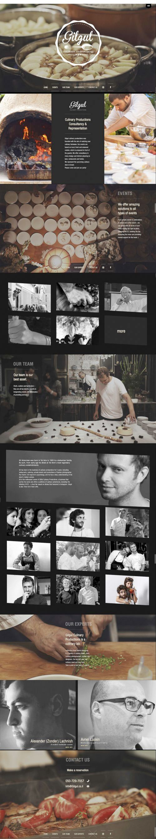 amazing restaurant website #webdesing #inspiration