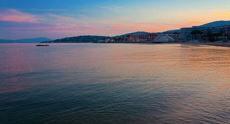 Beautiful sunset in Sainte Maxime