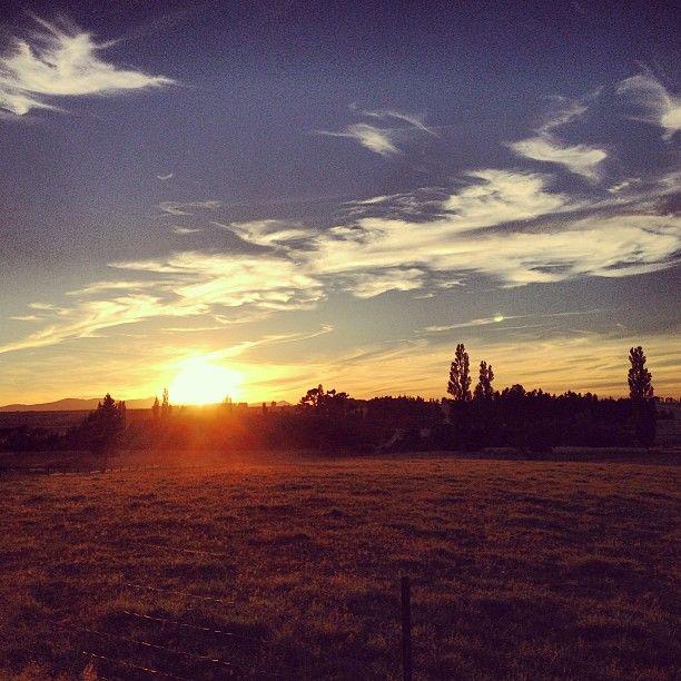 Sunrise on the ranch - Wedderburn, Central Otago.