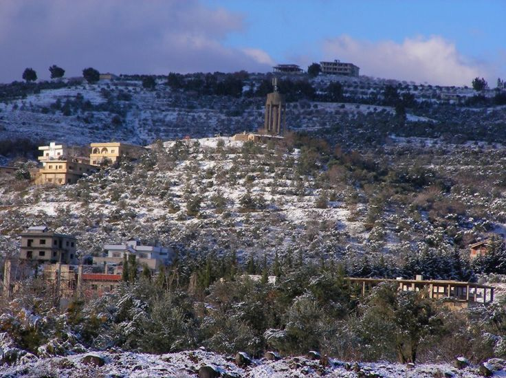 Down town Alhwash in the snow time