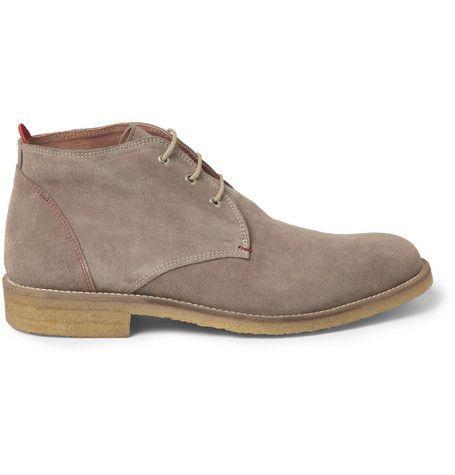 #OliverSpencer Postman Crepe-Soled Suede Desert Boots