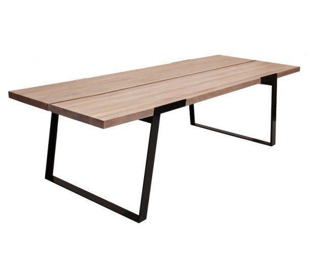 Silva Spisebord - 290 cm - Hvit oljet - Moderne og robust spisebord i massiv eg