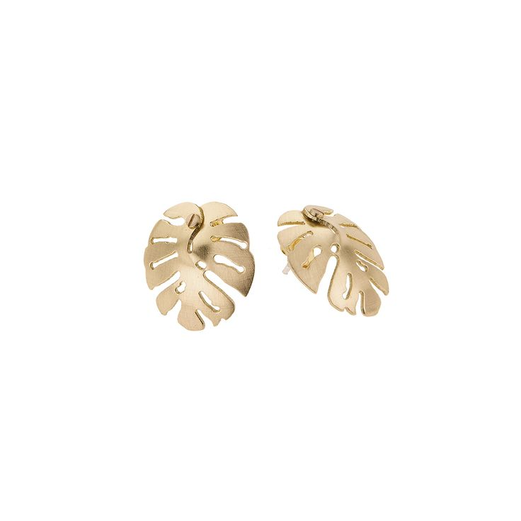 Little monstera earrings from INSECTS collection by Anna Orska.