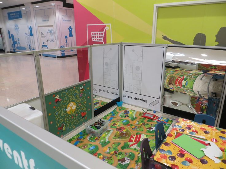 Displays 2 Go - Portable childcare booth - wobbly wobbly mirrors were also created.