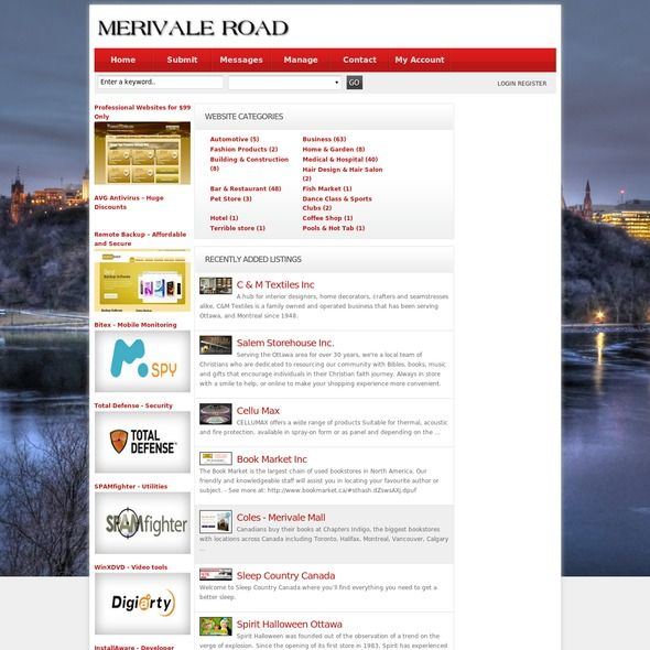 Merivale Road is a free directory Canada. submit your website and small business to local business directory categorised by subject.Add your site URL to the free directory listing Canada.
