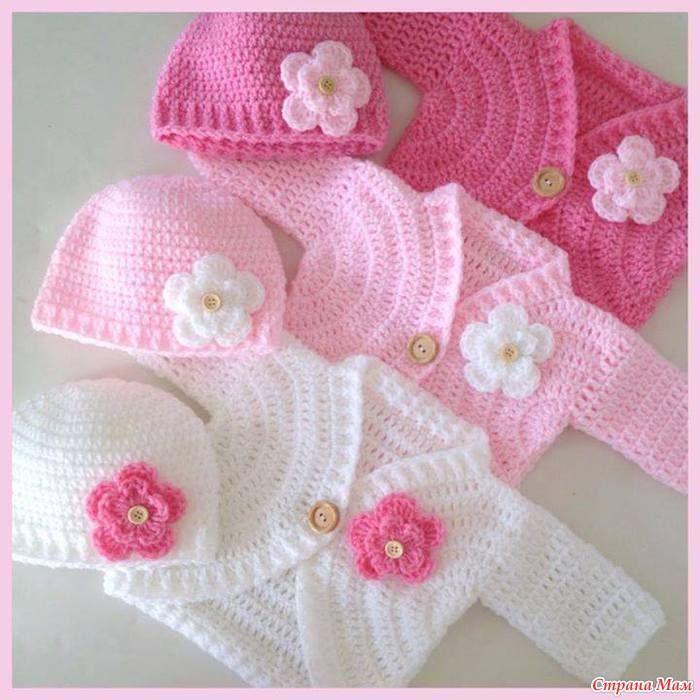 Crochet Baby Cardigan - Tutorial ❥ 4U hilariafina  http://www.pinterest.com/hilariafina/