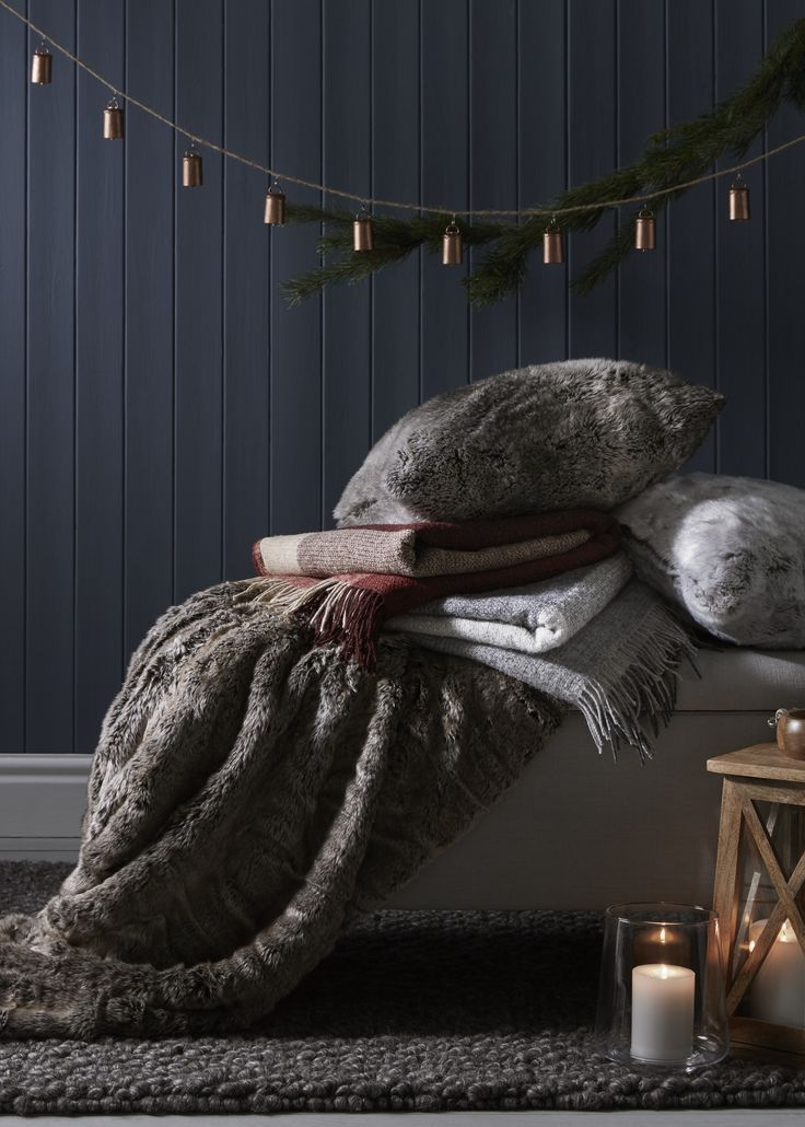Make your home a haven to hibernate by layering tactile throws and soft cushions. Create a relaxing ambience with soft lighting by draping fairy lights and lighting festive scented candles. Discover all of the essentials and extras you need for yourself and your festive guests this season at John Lewis.