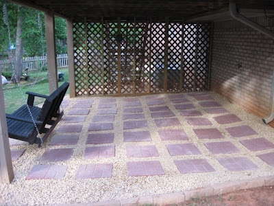 How To: Create Paver Patio.     The perfectionist in me requires straighter paver placement, packing the underlying sand, and leveling to make things just right.