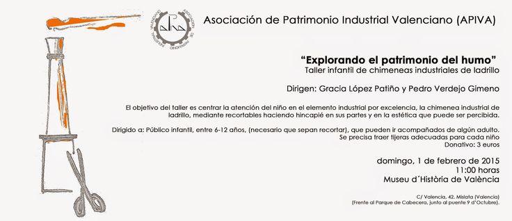 """Patrimonio Industrial Arquitectónico: Taller para niños de chimeneas industriales de ladrillo """"Explorando el patrimonio del humo"""". Valencia"""