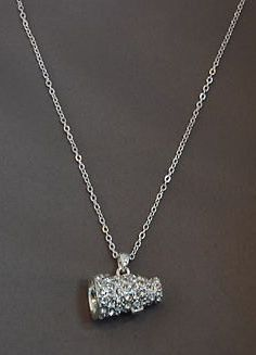 $8.99  Sparkle Rhinestone Megaphone Necklace. Cheerleading Charm Necklace. Cheerleader gift. Cheerleading coach! #coaching #cheerleading #ad