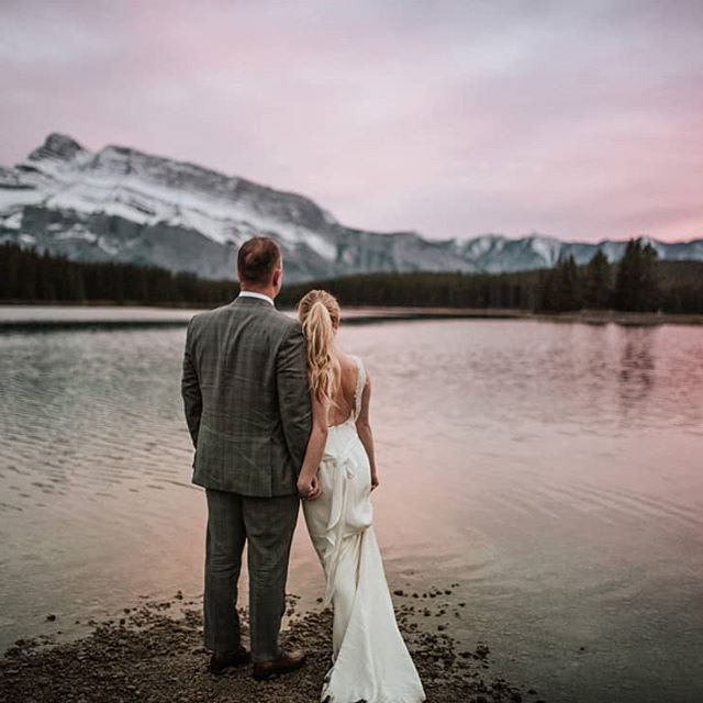 Chasing light together.  One of the best parts of my job is sharing the sunset with great people.  Claire and Mike's Banff and Invermere adventure session.  A stunning and luxurious wedding by @lynnfletcherweddings.  @redleafstudios fxc03  #wedding #luxurywedding #junebugweddings #tribearchipelago #weddingday #weddingdayready #wanderlust #destinationwedding #rockymountains #rockymountainbride #authenticlovemag #loveandwildhearts #anotherwildstory #banff #banffsprings #instatravel #travelgram