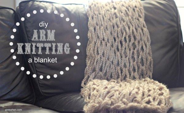 DIY Arm Knit Blanket Video Tutorial