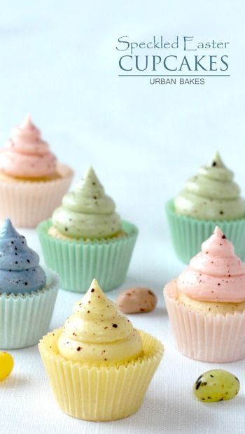 Speckled Easter Cupcakes