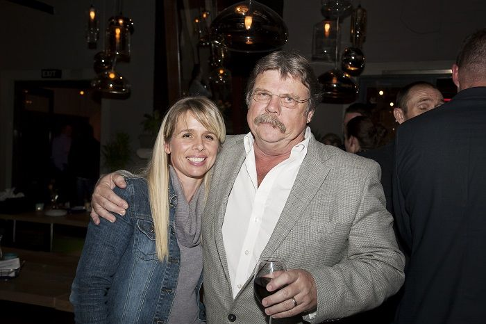 Kelly Burke from Flux Communications with Smiley van Zyl, owner of Dermasure Cosmetics