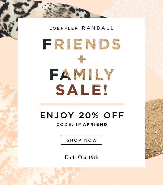 Shop 20% Off Sitewide During The Friends and Family Sale At The Official Loeffler Randall Store LoefflerRandall.com