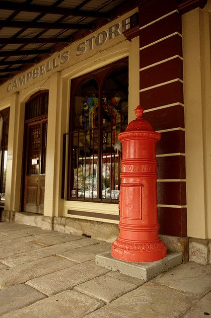 A historic Post Box, located on Swan Street, Morpeth, near Maitland, New South Wales, Australia. v@e.