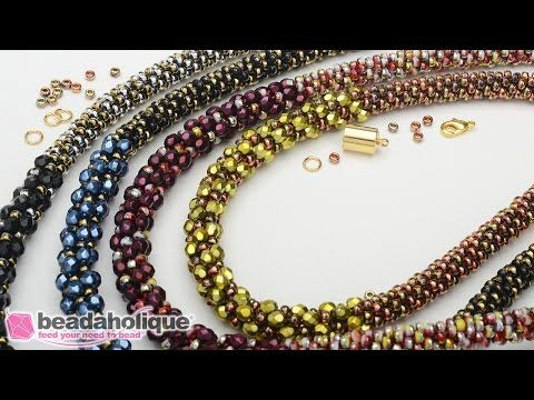 How to Make the Deluxe Beaded Kumihimo Necklace Kit | Beadaholique