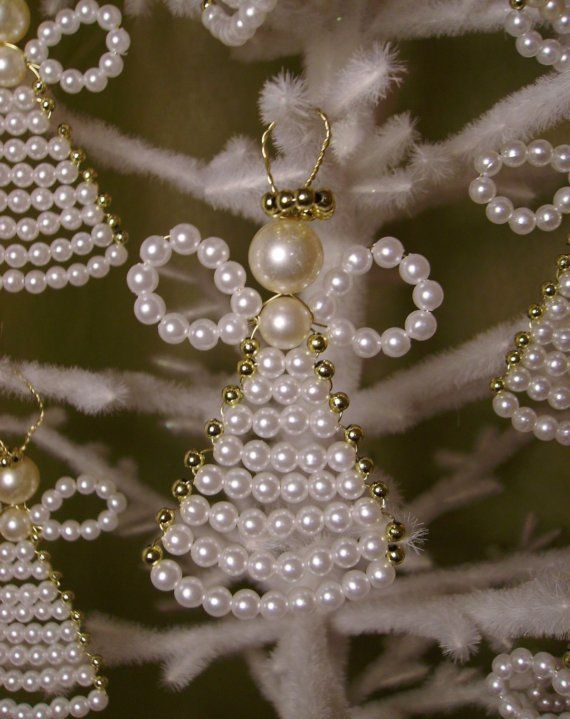 Angel ornament in pearl beads