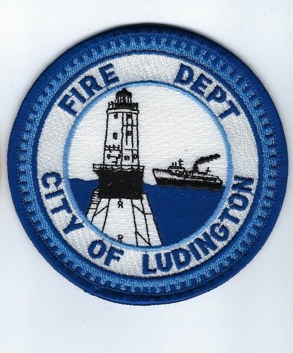Ludington (Mason County) MI Michigan Fire Dept. patch - NEW! *Lighthouse & Ship*
