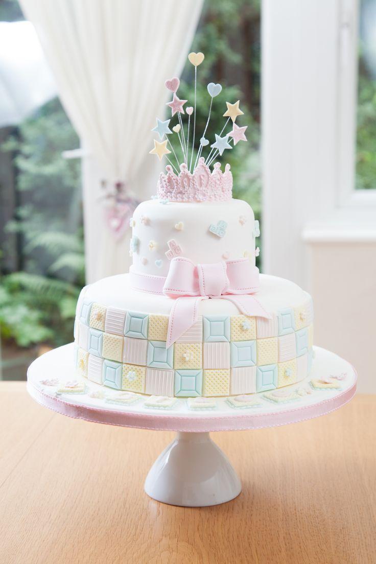 Christening cake for Grace