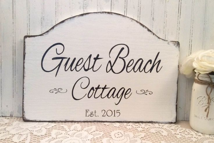 Guest Beach cottage, rustic beach cabin, lake cottage, river cabin, guest lake cabin wooden sign, outdoor cabin sign, wooden cottage sign by SignsByDiane on Etsy https://www.etsy.com/listing/252338322/guest-beach-cottage-rustic-beach-cabin