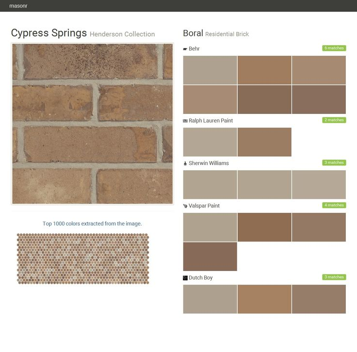 Cypress springs henderson collection residential brick boral behr ralph lauren paint - Removing paint from brick exterior collection ...