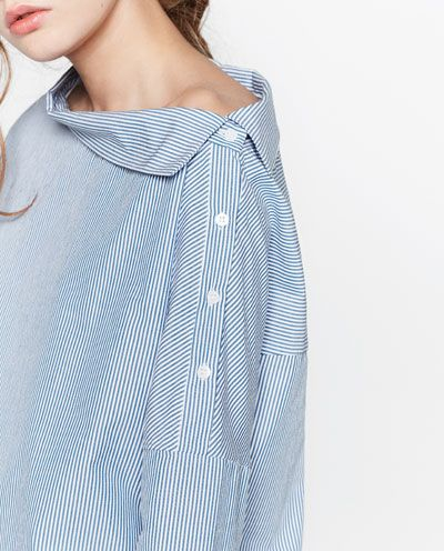 Image 7 of STRIPED TOP WITH WIDE CUFFS from Zara