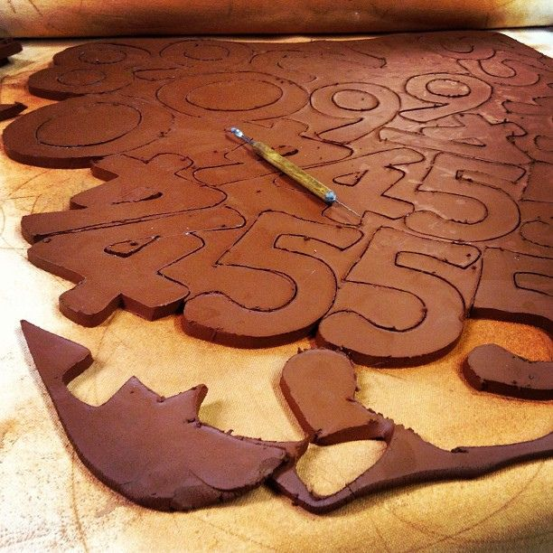 #Making some #house #numbers - #clay #ceramic #pottery #potterystudio | Flickr - Photo Sharing!